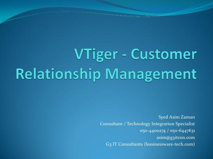 Businessware Technologies - VTiger CRM