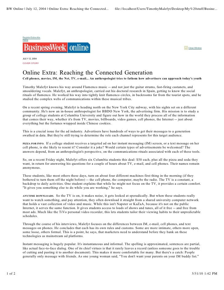 BW Online | July 12, 2004 | Online Extra: Reaching the Connected...        file://localhost/Users/TimothyMalefyt/Desktop/M...