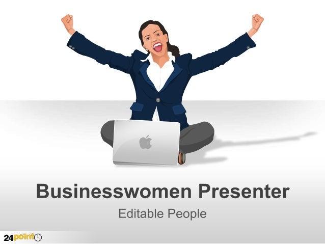 Businesswomen Presenter