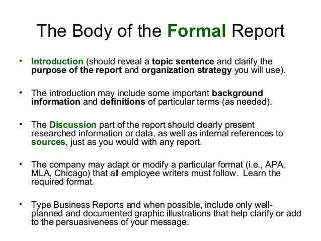 how to write a business report format 1 how to write a formal report dr tony cook atc@aberacuk ph05510 2008 apr 24 general writing tips 1 you have a deadline to.