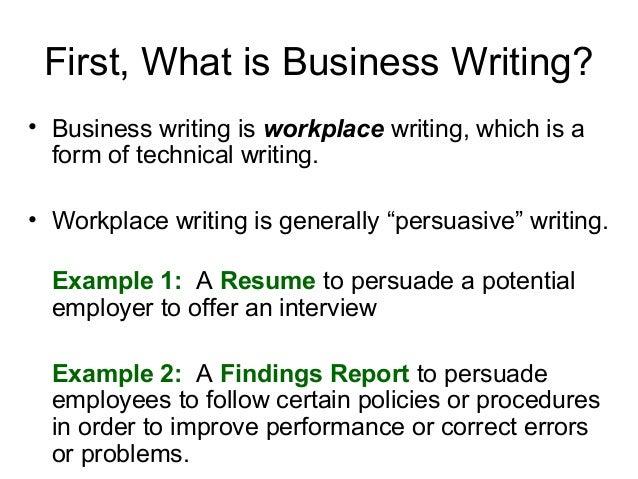 Custom presentation writing