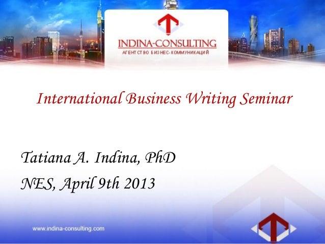 Business writing tatiana indina_2013