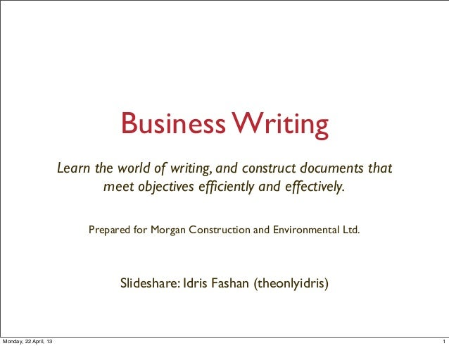 Business Writing Worksheets