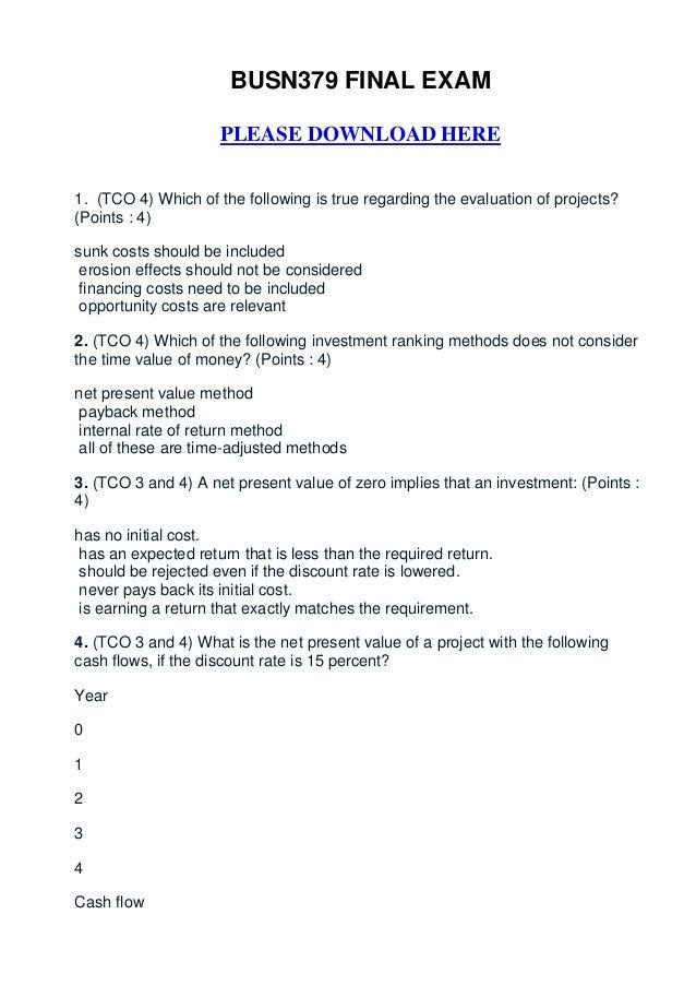 Busn379 final exam