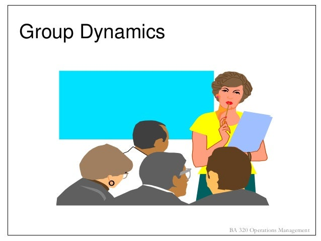 Group Dynamics  BA 320 Operations Management