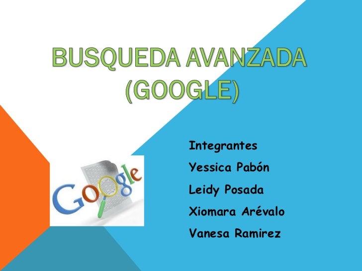 Busqueda avanzada con google