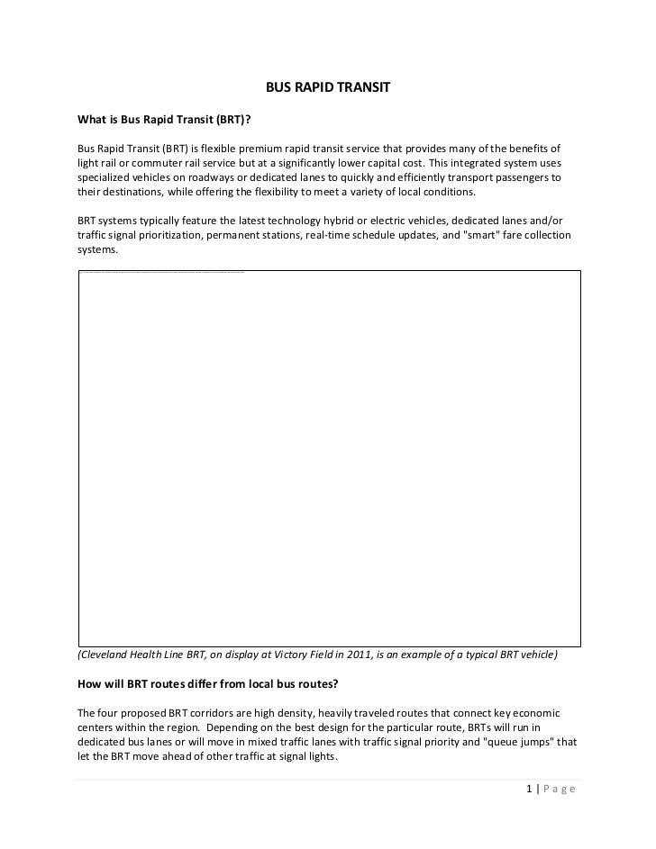 Bus rapid transit briefing paper