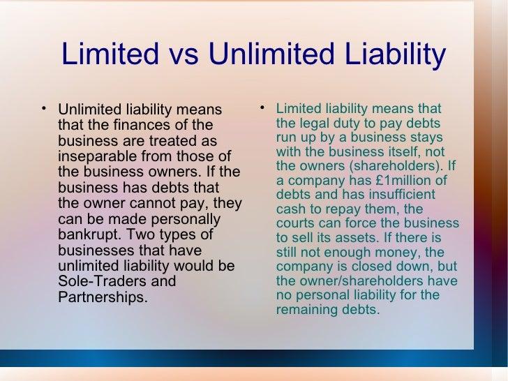 Unlimited Liability 62384 | RIMEDIA