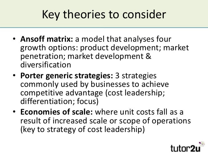 samsung ansoff matrix and generic strategies List of figures figure 1 porter (1979)'s 5 forces analysis model 3 figure 2 ansoff (1957)'s product market growth matrix 6 figure 3 the bcg growth-share matrix 7.