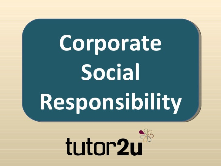 corporate social responsibility 6 essay