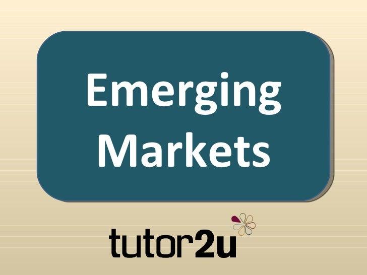 Business & Emerging Markets