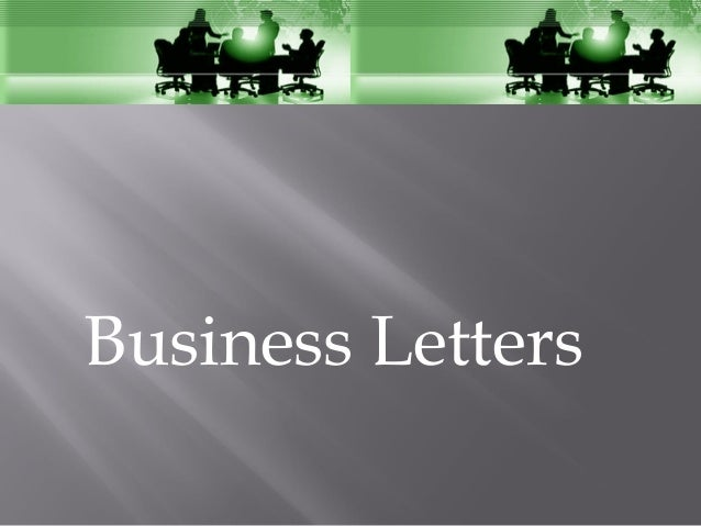 Bussiness letter