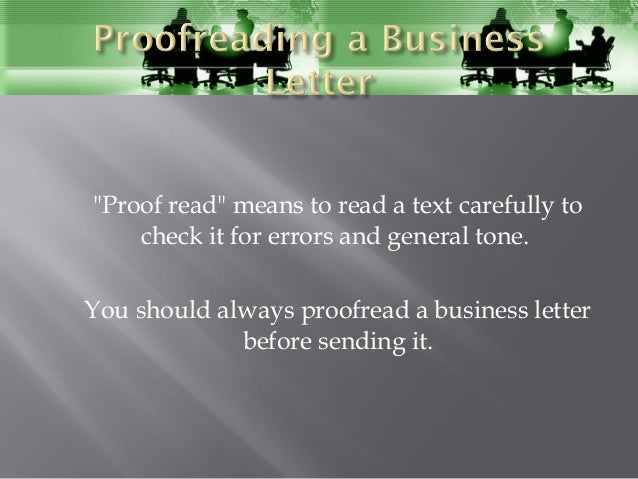 Proofread means
