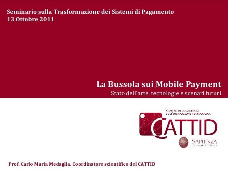 Bussola sui mobile payment_1_Seminario Trasformazione Sistemi di Pagamento