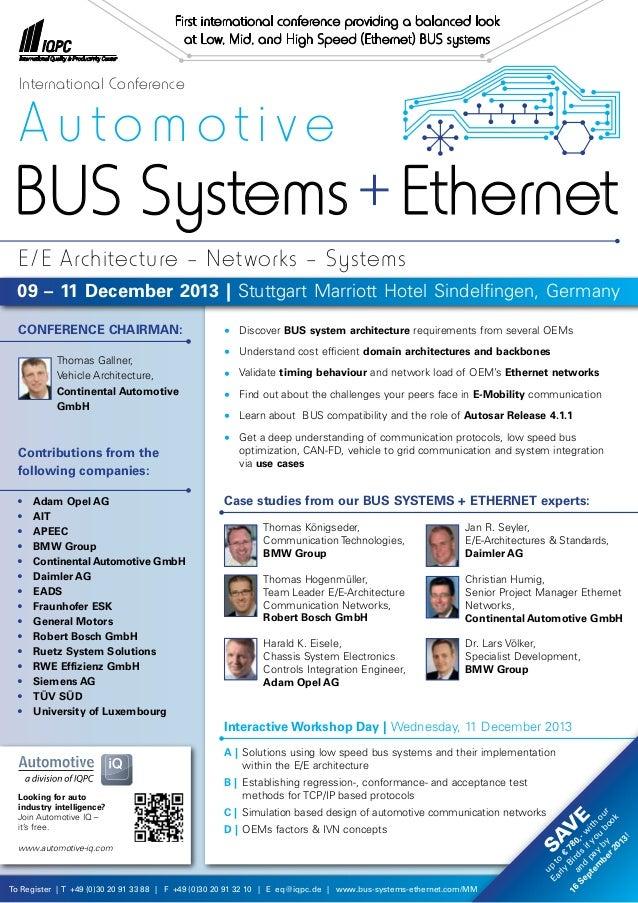 To Register | T +49 (0)30 20 91 33 88 | F +49 (0)30 20 91 32 10 | E eq@iqpc.de | www.bus-systems-ethernet.com/MM • Discov...