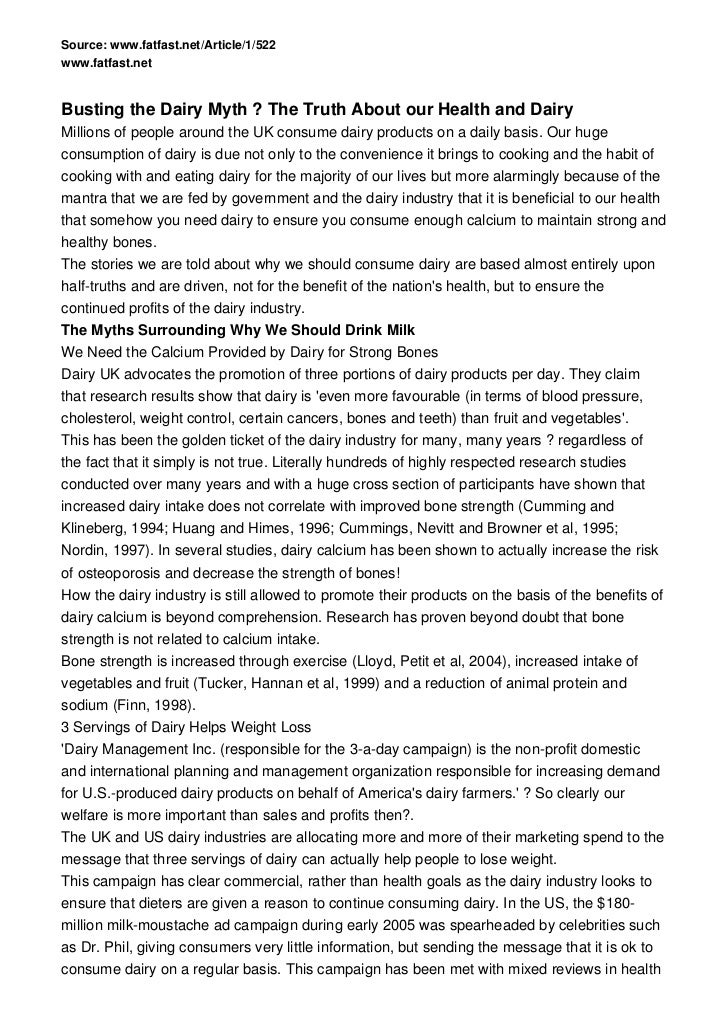 Source: www.fatfast.net/Article/1/522www.fatfast.netBusting the Dairy Myth ? The Truth About our Health and DairyMillions ...