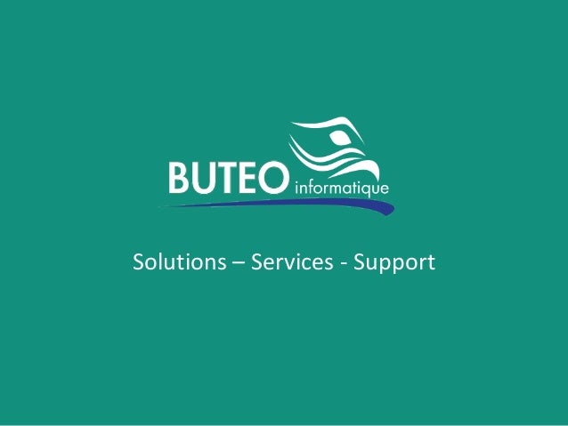 Solutions – Services - Support