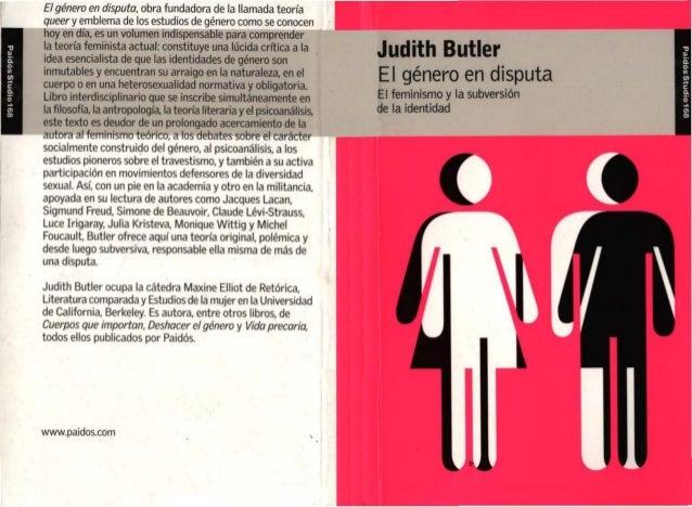 Butler - El género en disputa