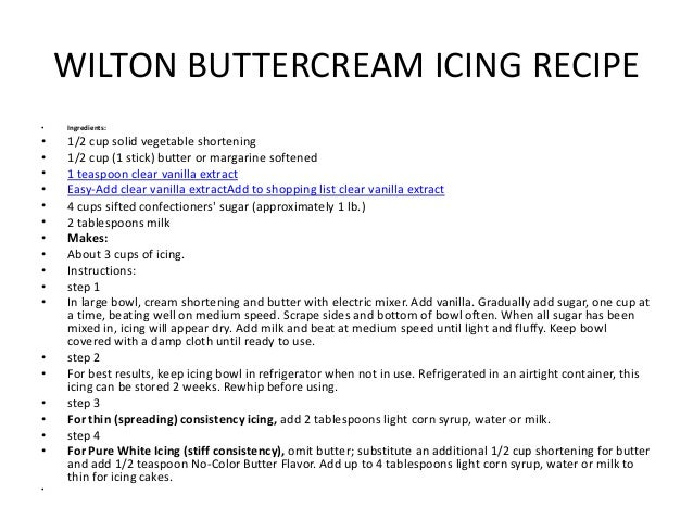 Wilton Cake Class Buttercream Recipe : Buttercream wilton