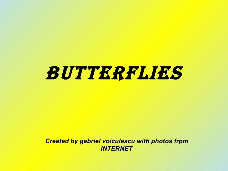 Butterflies Created by gabriel voiculescu with photos frpm INTERNET