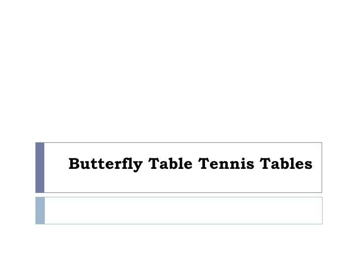 Butterfly Table Tennis Tables<br />