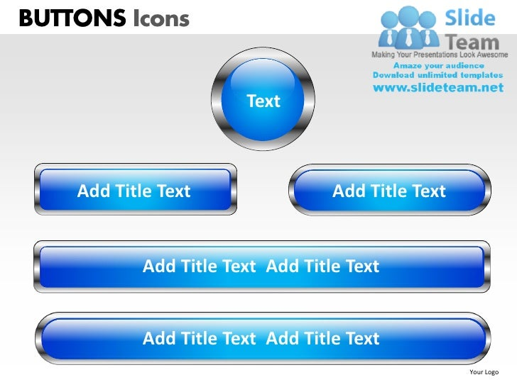 Buttons icons powerpoint presentation slides ppt templates