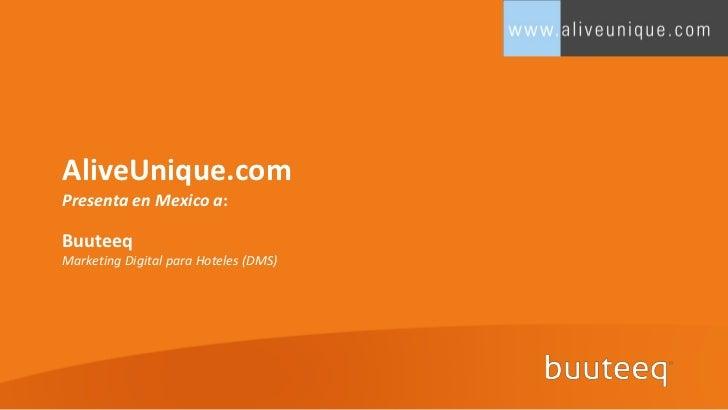 AliveUnique.comPresenta en Mexico a:BuuteeqMarketing Digital para Hoteles (DMS)