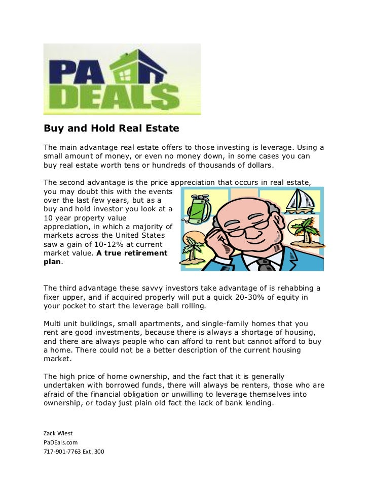 Buy and Hold Real Estate By Zack Wiest