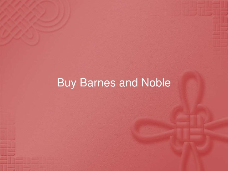 Buy Barnes and Noble