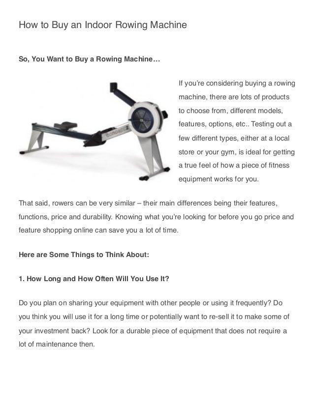 rowing machine to buy