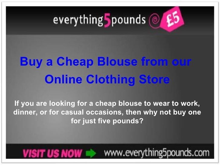Buy a Cheap Blouse from our Online Clothing Store