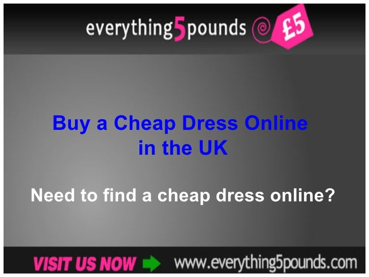 Buy a Cheap Dress Online in the UK