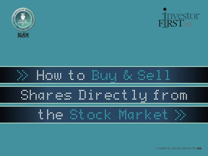 How to Buy and Sell Shares