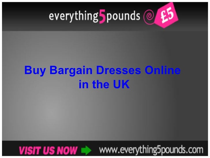 Buy Bargain Dresses Online  in the UK
