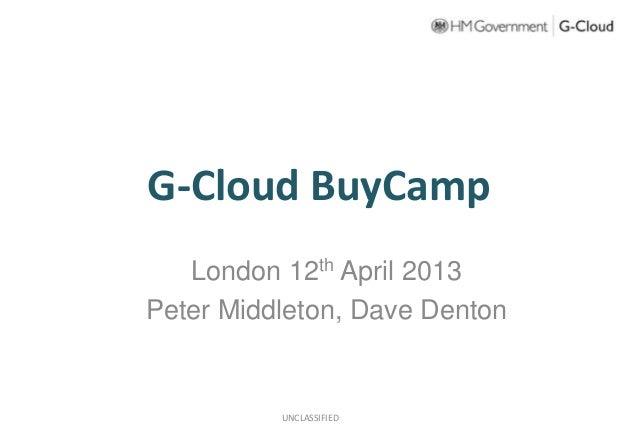 Buycamp london 12th april - PPTX