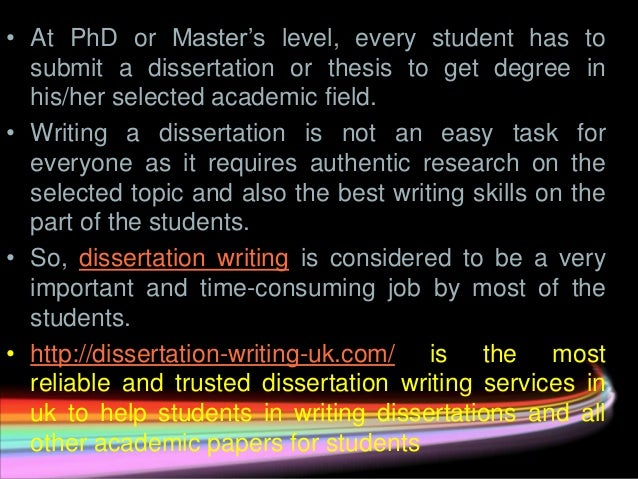 Help With Dissertation Writing Services