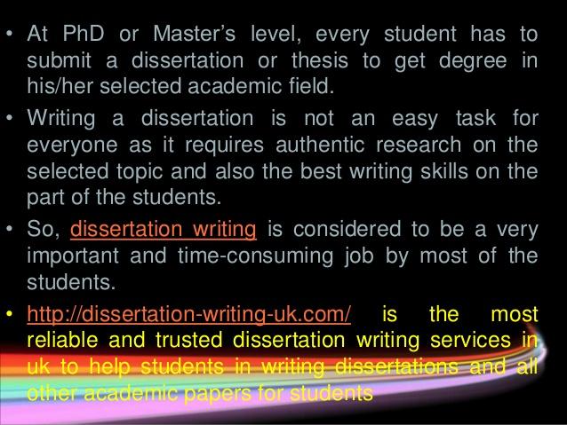 dissertation service writing