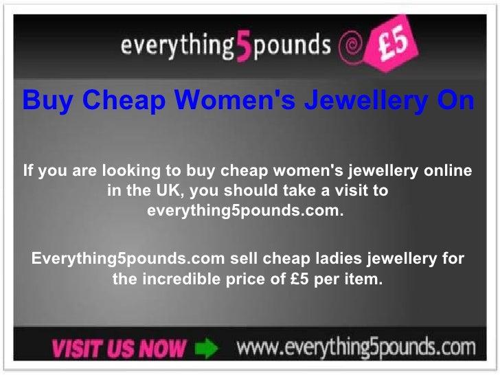 Buy Cheap Women's Jewellery Online in the UK If you are looking to buy cheap women's jewellery online in the UK, you shoul...