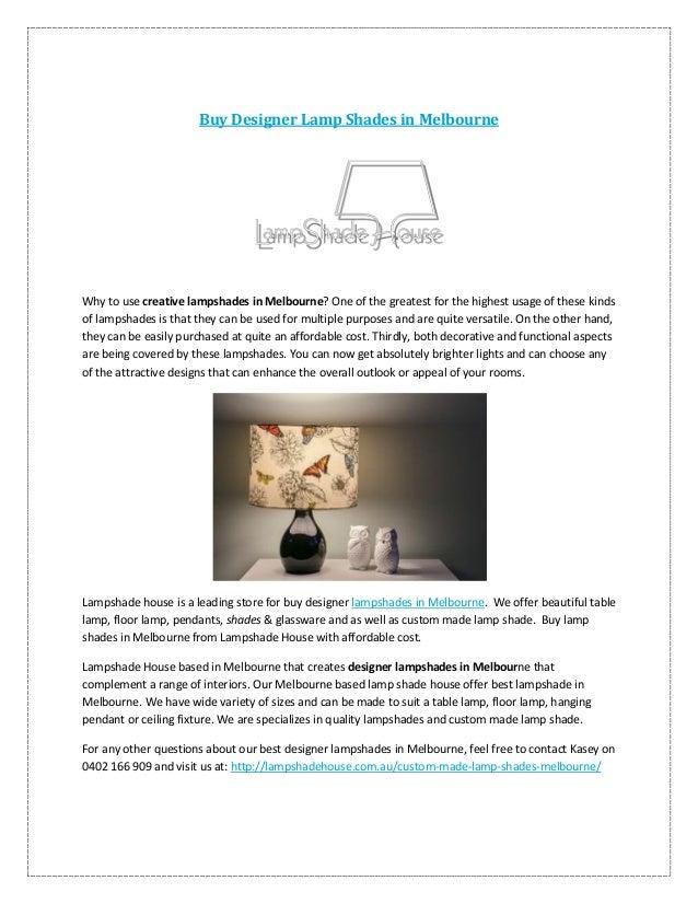 Buy Designer Lamp Shades In Melbourne