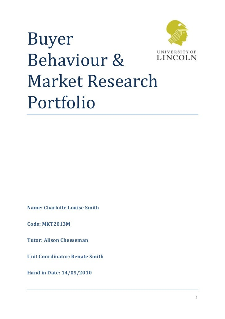 Buyer Behaviour & Market Research Portfolio