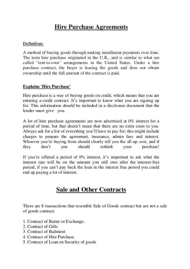 Hire purchase essays