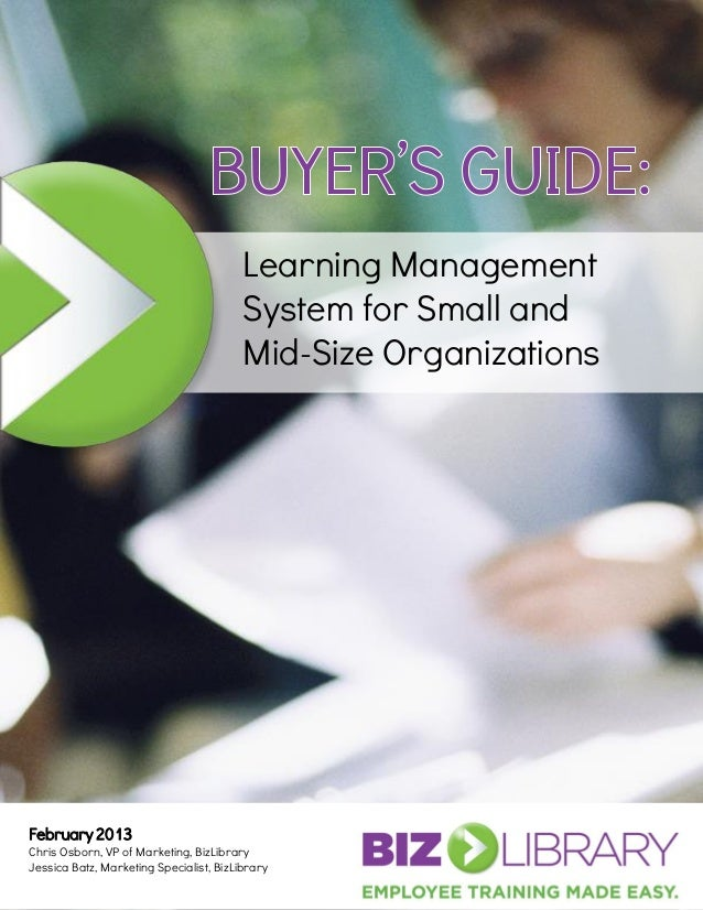 Learning Management                                         System for Small and                                         M...