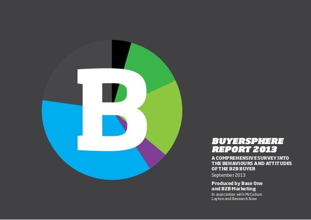 1 BUYERSPHERE REPORT 2013 A COMPREHENSIVE SURVEY INTO THE BEHAVIOURS AND ATTITUDES OF THE B2B BUYER September 2013 Produce...