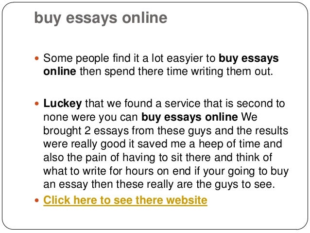 Buy me an essay