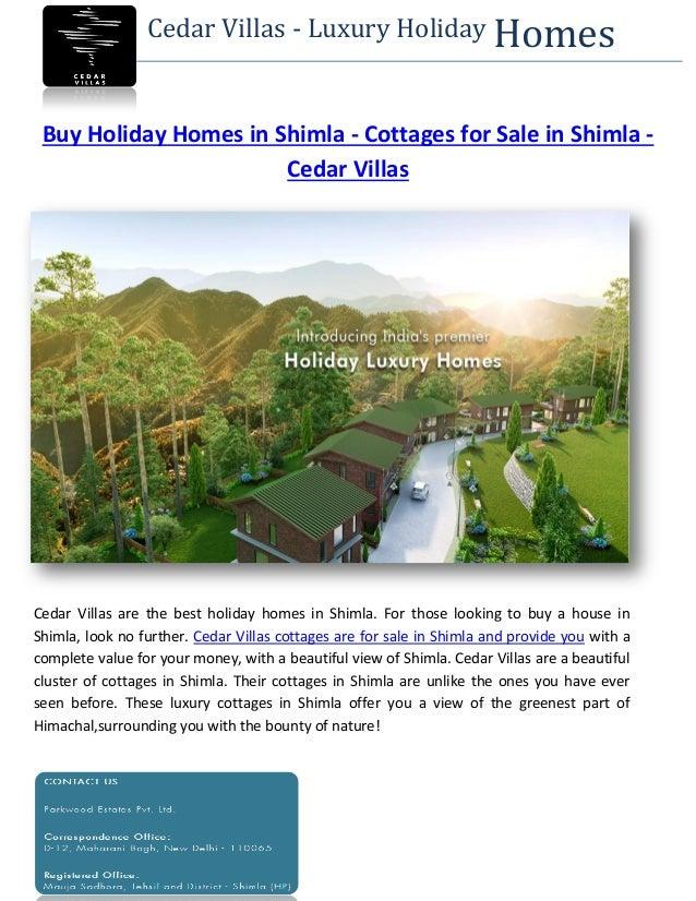 Buy Holiday Homes In Shimla Cottages For Sale In Shimla