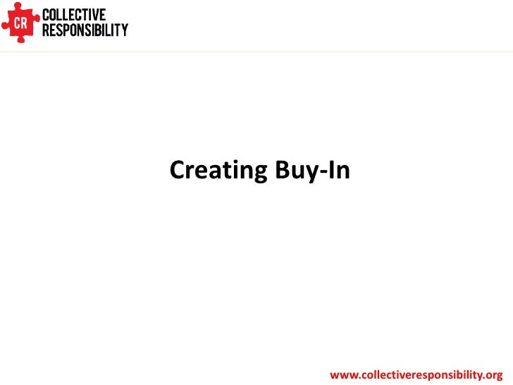 Creating Buy In for Sustainability Programs