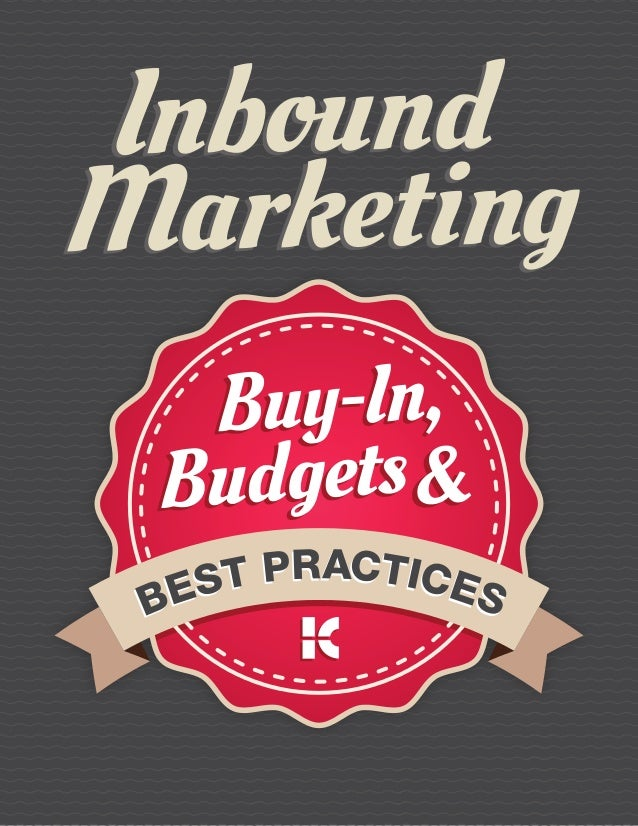 Inbound Marketing Best Practices