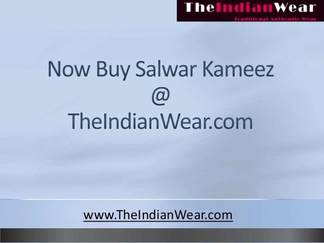 Buy indian salwar kameez at theindianwear.com