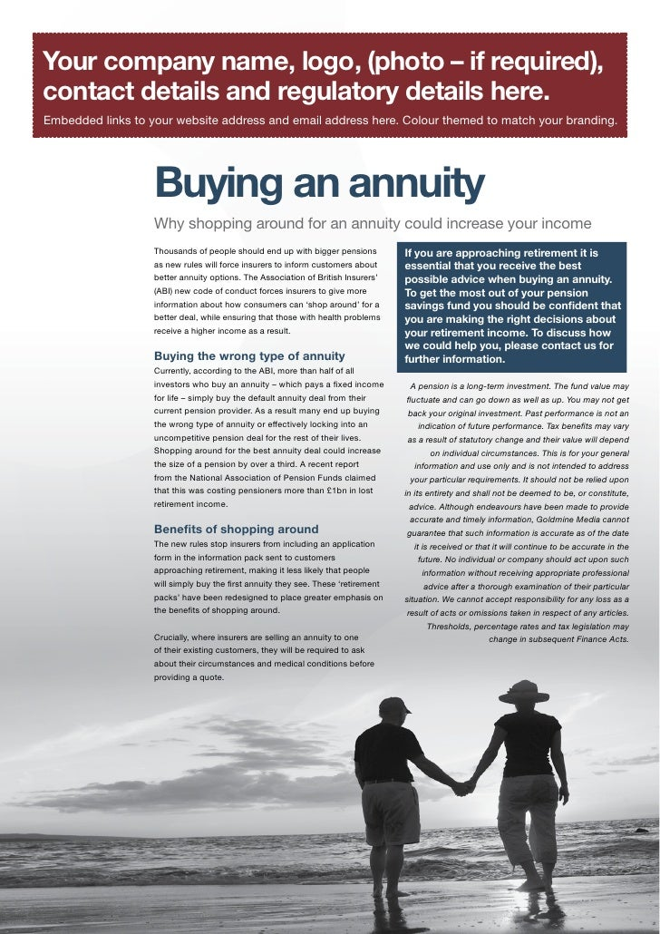 Buying An Annuity
