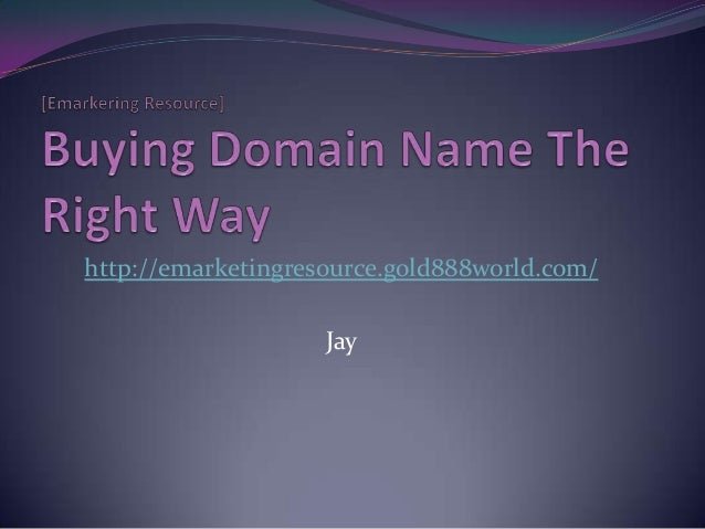 Buying domain name the right way